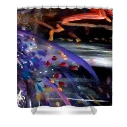 Burst Of Color Shower Curtain by Michelle Audas