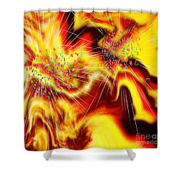 Burst Of Energy Shower Curtain