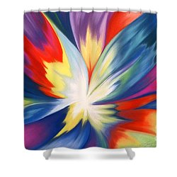 Burst Of Joy Shower Curtain by Lucy Arnold