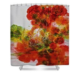Shower Curtain featuring the painting Burst Of Nature, II by Carolyn Rosenberger