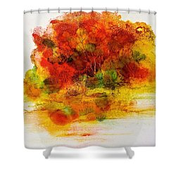 Shower Curtain featuring the painting Burst Of Nature IIi by Carolyn Rosenberger