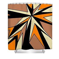 Burst Of Orange 2 Shower Curtain by Linda Velasquez