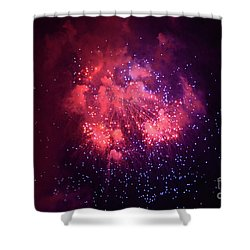 Burst Of Smoke And Light Shower Curtain by Stephan Grixti