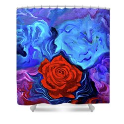 Bursting Rose Shower Curtain by Jenny Lee