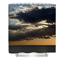 Bursting Through Shower Curtain by Laurie Search