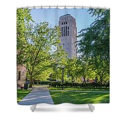 Burton Memorial Tower 1 University Of Michigan  Shower Curtain