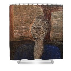 Shower Curtain featuring the mixed media Bus by Steve  Hester