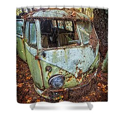 Bus Stopped Shower Curtain
