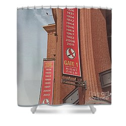 Busch Stadium - Cardinals Baseball Shower Curtain