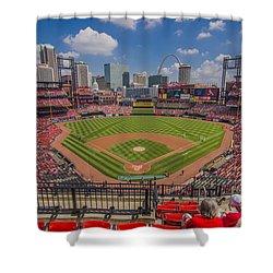 Busch Stadium St Louis Cardinals Ball Park Village #3 Shower Curtain