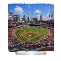 Busch Stadium St. Louis Cardinals Ball Park Village #3b Shower Curtain