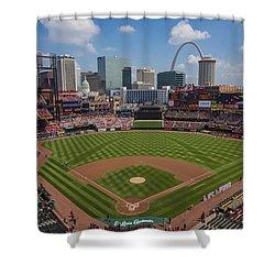 Busch Stadium T. Louis Cardinals Ball Park Village National Anthem #3a Shower Curtain