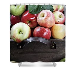 Shower Curtain featuring the photograph Bushel Of Apples  by Stephanie Frey
