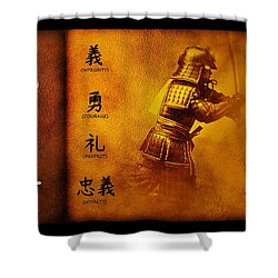 Bushido Way Of The Warrior Shower Curtain