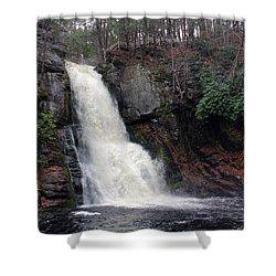 Shower Curtain featuring the photograph Bushkill Falls by Linda Sannuti