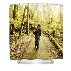 Shower Curtain featuring the photograph Bushwalking Tasmania by Jorgo Photography - Wall Art Gallery