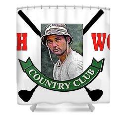 Bushwood Country Club Caddyshack Bill Murray Shower Curtain