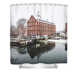 Shower Curtain featuring the photograph Busiel-seeburg Mill by Robert Clifford