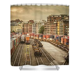 Busines End Of The City... Shower Curtain by Russell Styles