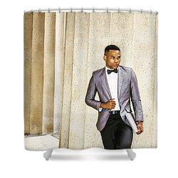 Black Businessman Shower Curtain