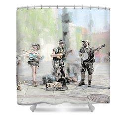 Busker Quintet Shower Curtain