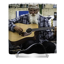 Busking In New Orleans, Louisiana Shower Curtain