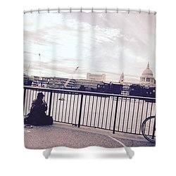 Busking Place Shower Curtain