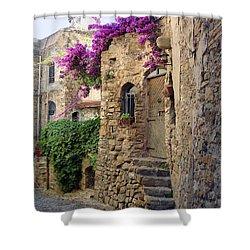 Bussana Vecchia Street Shower Curtain
