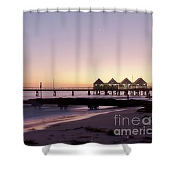 Shower Curtain featuring the photograph Busselton Jetty Sunrise by Ivy Ho