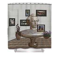 Bust Of The Spirit Of Einstein 1 Shower Curtain