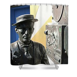 Buster Keaton On Camera Shower Curtain