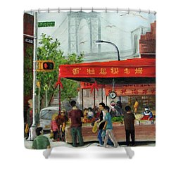 Busy Corner Shower Curtain