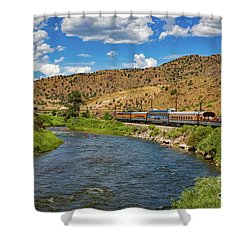 Busy Day On The River Shower Curtain