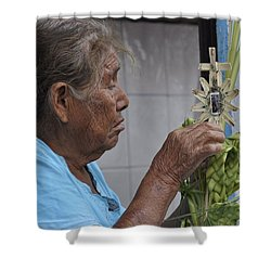 Busy Hands Shower Curtain by Jim Walls PhotoArtist