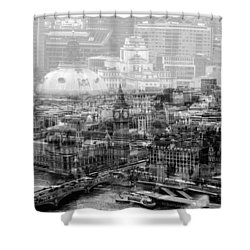 Busy London Shower Curtain