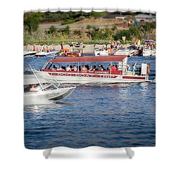 Busy River Shower Curtain