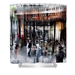 Busy Sidewalk Shower Curtain
