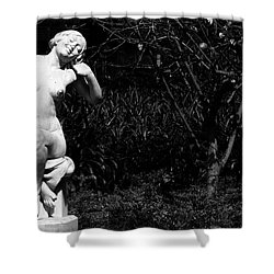 But Still Smiling Shower Curtain by Lorraine Devon Wilke