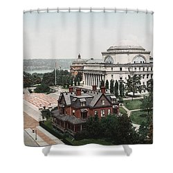 Butler Library At Columbia University Shower Curtain