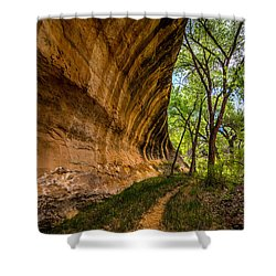 Butler Wash Wave Formation - Blanding - Utah Shower Curtain by Gary Whitton