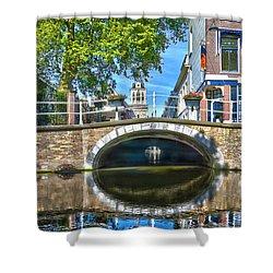 Butter Bridge Delft Shower Curtain