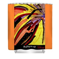 Shower Curtain featuring the painting Buttercup by Clarity Artists