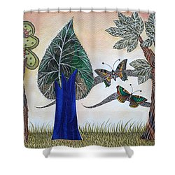 Butterflies In Love Shower Curtain
