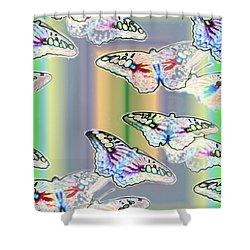Butterflies In The Vortex Shower Curtain by Tim Allen