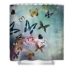 Butterflies Reborn Shower Curtain
