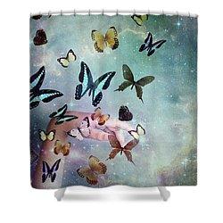 Butterflies Reborn Shower Curtain