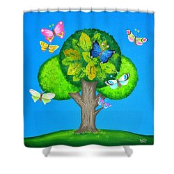 Butterflies Refuge Shower Curtain