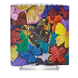 Butterflies Shower Curtain by Rita Fetisov