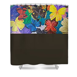 Butterflies 2 Shower Curtain by Rita Fetisov