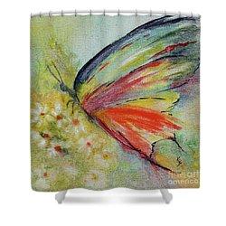 Butterfly 3 Shower Curtain by Karen Fleschler